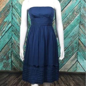 J Crew Strapless Dress 6 Juliet 100% Silk Chiffon